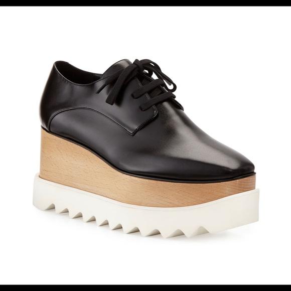 Black Elyse Platform Shoe 85
